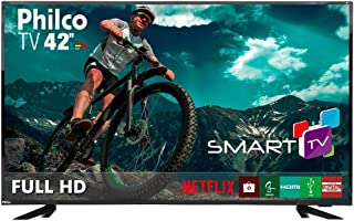 """Smart TV 42 Philco Full HD, Wifi Integrado, Conversor digital, Entradas 3 HDMI, 1 USB, 60Hz, 20w RMS, Bivolt - PTV42E60DSWN"""