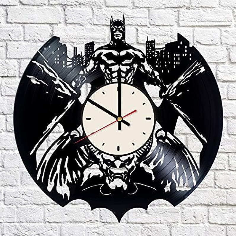 Batman Superhero Vinyl Wall Clock Gotham City Unique Gifts Living Room Home Decor