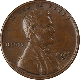 1932 D 1c Lincoln Wheat Cent Penny US Coin XF EF Extremely Fine