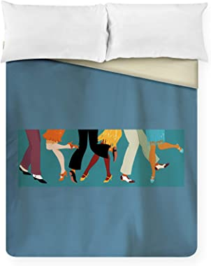 Lantern Press Legs of People in 1920s Clothes Dancing The Charleston 9021512 (88x88 Queen Microfiber Duvet Cover)