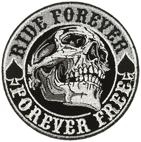"""Hot Leathers Spade Skull Patch (Multicolor, 3.5"""" Width x 3.5"""" Height)"""