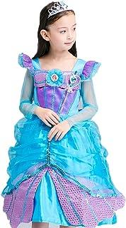 プリンセスなりきり 子供 ドレス キッズ 子ども 人魚お姫様 上品ワンピース お姫様ドレス 女の子 なりきり キッズドレス