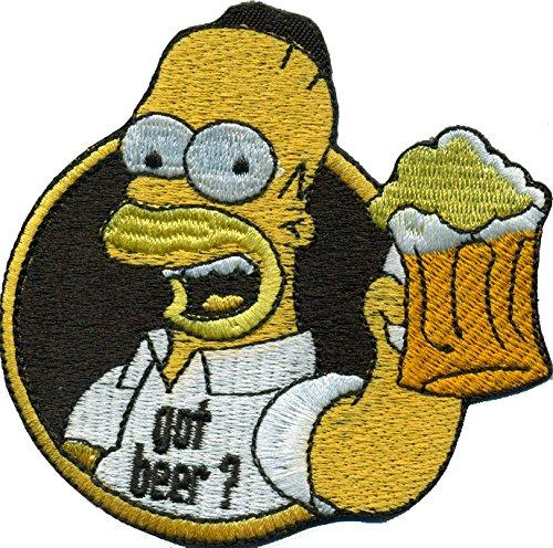 Simpsons Homer Simpson Got Beer Oktoberfest Saufen Bier Biker Aufnäher Patch
