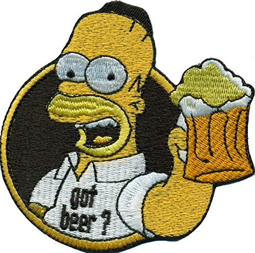 Simpsons Homer Simpson Got Beer Oktoberfest Saufen Bier Biker Aufnäher Patch