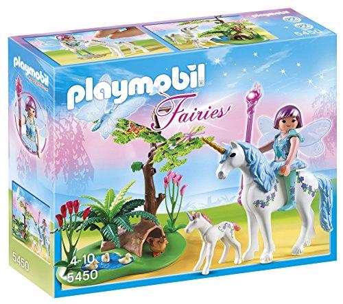 PLAYMOBIL Hadas - Hada Aquarella en la Pradera del Unicornio, Playsets de Figuras de Juguete, Multicolor, 25 x 7,5 x 20 cm, (5450)
