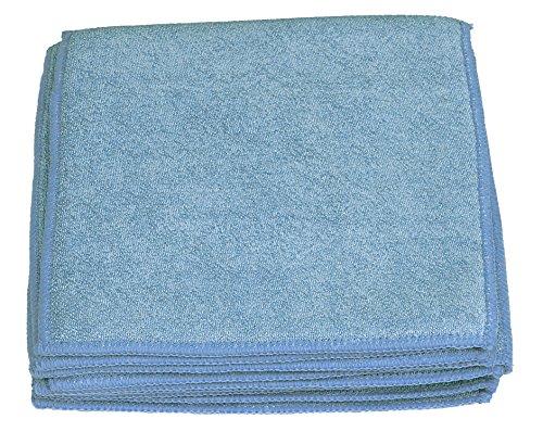 Sonty 10 Stück Schwammtücher XL, Spültücher Microfaser 23 x 23 cm (blau)
