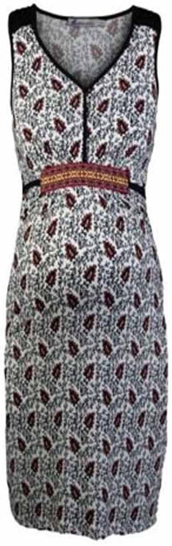 Queen Mum Women's Leaf Print Sleeveless Dress