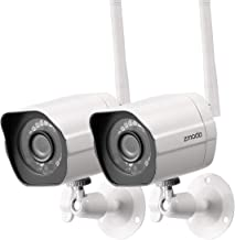 Zmodo Outdoor Security Camera Wireless (2 Pack), 1080p...