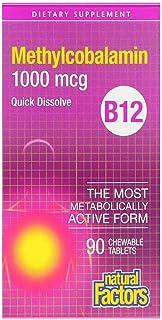 Natural Factors B12 Methylcobalamin 1000 mcg - 90 Chewable Tablets