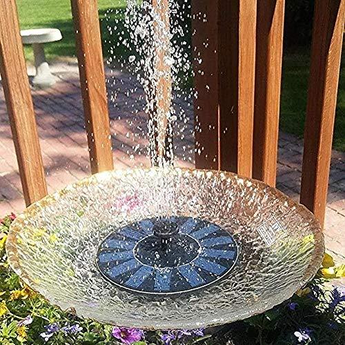 Fontaine solaire, pompe de bain d'oiseau, 2,4 W de pompe solaire avec batterie de secours 800 mAh avec pieds d'énergie solaire de la pompe de la fontaine d'eau pour le bain de l'oiseau de bassin de ja