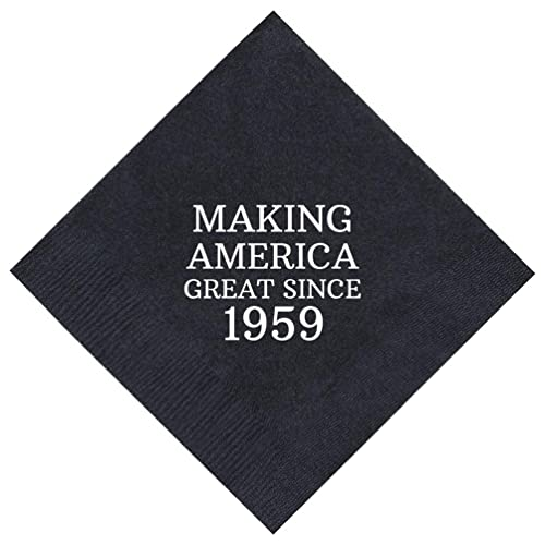 60th Birthday Gifts Making America Great Since 1958 Party Supplies 50 Pack 5x5
