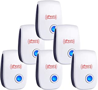 Ultrasonic Pest Repeller 2019 - Ultrasonic Pest Repellent Pest Control Professional Plug in Electronic Repel (6 Pack) - Repels Ants, Fleas, Rats, Rodents, Roaches, Fruit Flies.etc
