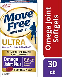 Move Free Ultra Omega, 30 softgels Joint Health Supplement with Omega 3 Krill Oil and Hyaluronic Acid