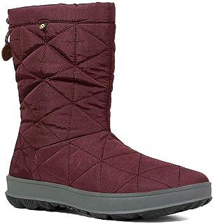 Bogs Snowday Mid Wine Womens Waterproof Boots
