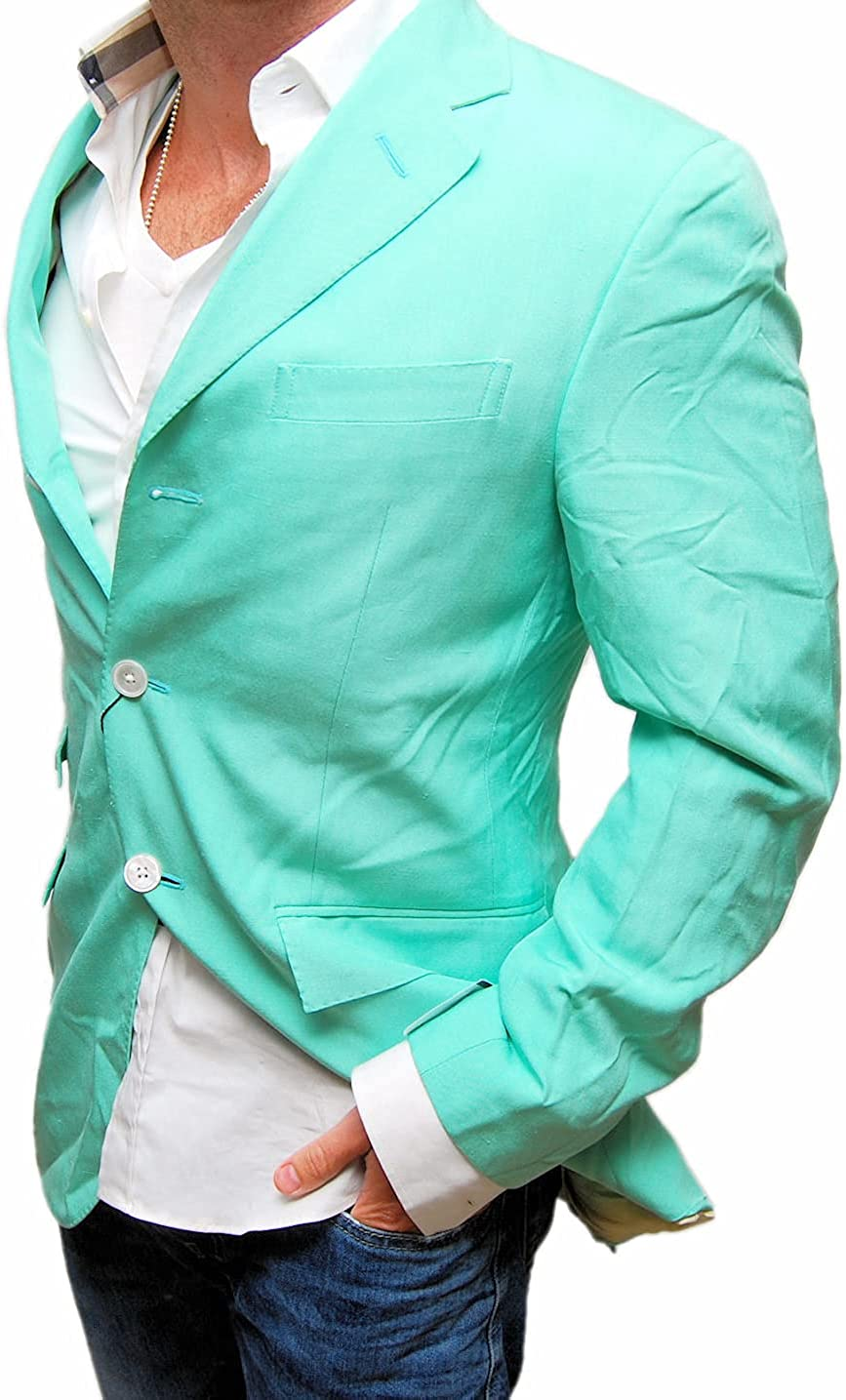 Ralph Lauren Polo Mens Blazer Sport Coat Jacket Silk Light Pastel Light Green Italy