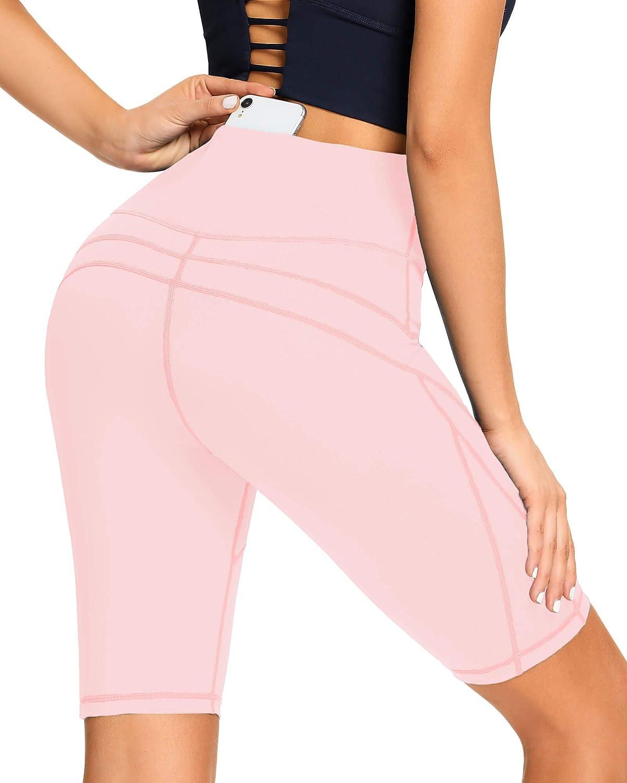 AS ROSE RICH Biker Shorts for Women High Waist - 3 Pockets Spandex Workout Shorts Women - Regular and Plus Size