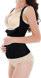 کمربند پشتیبان زایمان مربی دور کمر بعد از زایمان شکم پشتی پشتی شکم باند باند شیشه ای برای ترمیم بدن Hourglass (گروه زایمان سیاه ، L)