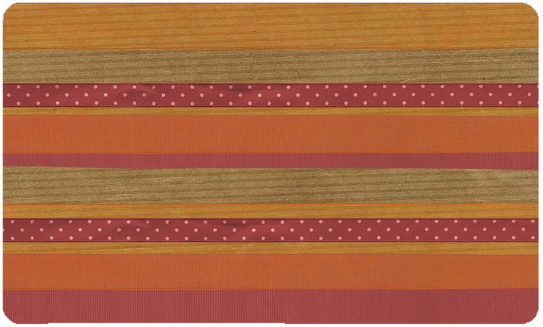 Yananka Doormat,Decorative Home for Front Door Entrance Outside Rug Trapper Waterproof Out Profile Washable Carpet,23.6 x 15.7,Stripe