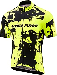 Uglyfrog Bike Wear Mens Cycling Jersey Short Sleeve Cycle Shirt with Pockets Riding Tops and Shorts Suits Breathable DCDXMZ02