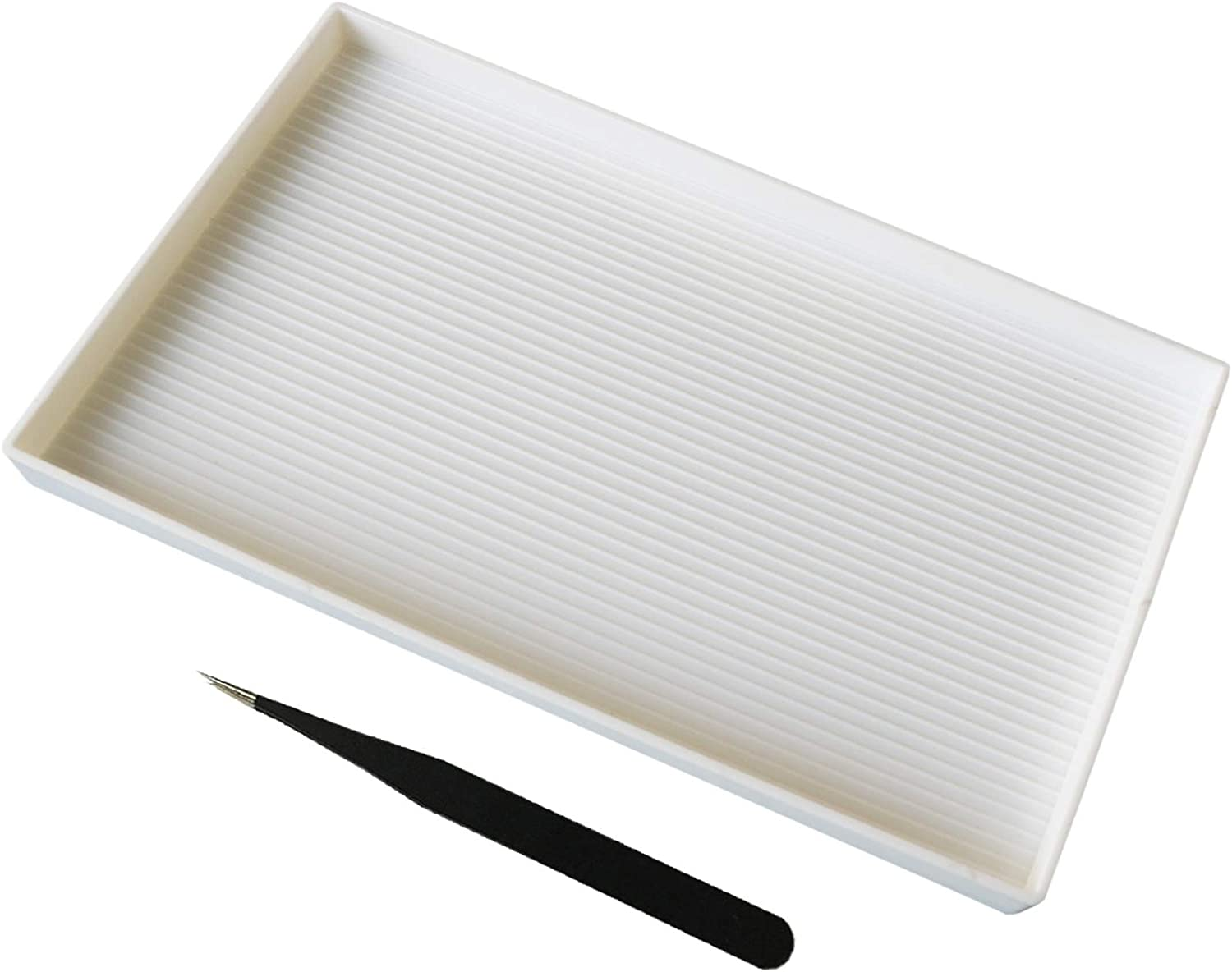 Extra Large Size Plastic Bead White Sorting Stainl Tray Max 89% Free Shipping Cheap Bargain Gift OFF 10x6inch