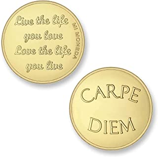 Moneda Mi Moneda Carpe Diem & Life the Life gold plated MON-CAR-02-M