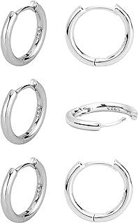 Beautywell Small Huggie Hoop Earings، Cartilage Ear Cuff گوشواره Hoop Piercing Jewelry for Men or Women، 14K Good Hoop Hypoallergenic 6/8/10/12mm