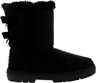 Womens Twin Bow Tall Classic Waterproof Winter Rain Snow Boots