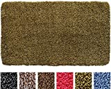 IRONGECKO Original Durable Absorbs Microfiber Mud Indoor Mat (29.5x17) Heavy Duty Door mat | Easy Clean, Low-Profile Mats for Entry,High Traffic Areas. (17' x 29.5' (1pack), Yellow/Brown)