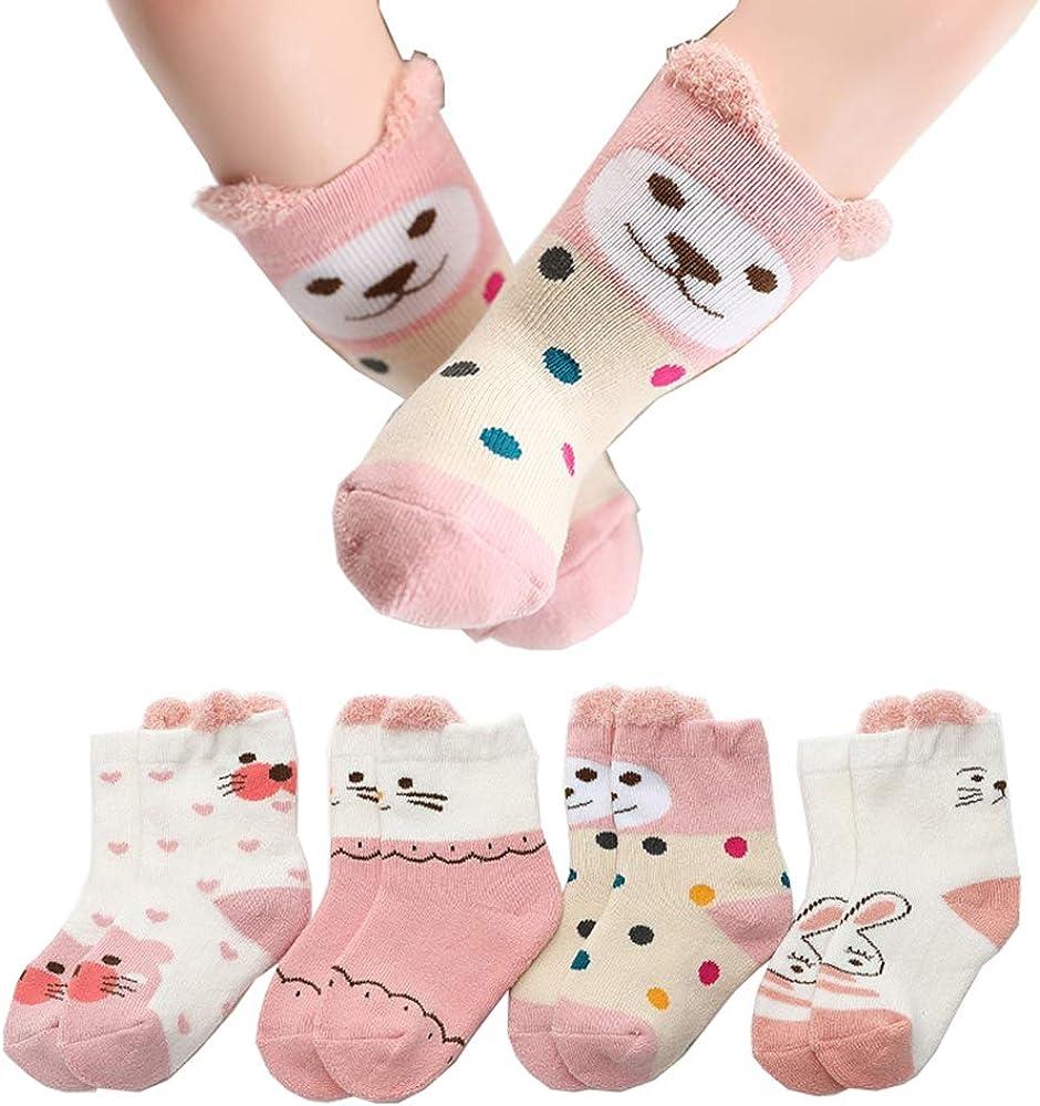 Baby Socks Infant Kids Animal Socks for Newborn Baby Girl Boy Non Slip Socks