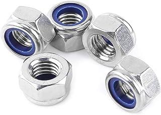 Tuercas hexagonales DIN 985 M5 Gleitmo 100 unidades autoblocante bajo forma A2-70 acero inoxidable