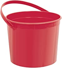 Plastic Bucket | Apple Red | Party Accessory