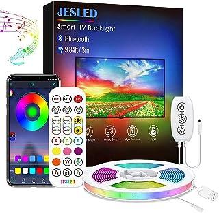 Led TV Backlight,JESLED Bluetooth Led Strip Lights for TV, Smart App Control, Led Strip Light for 24-40 inch TV, Computer,...