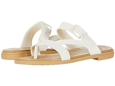 Crocs Tulum Toe Post Sandal (Oyster/Tan) Women