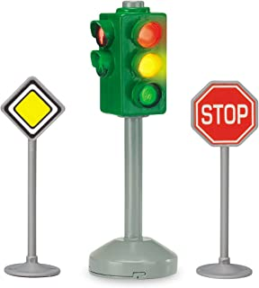 Dickie 203341000 zabawkowe znaki drogowe i światła drogowe dla dzieci miasto, wielokolorowe
