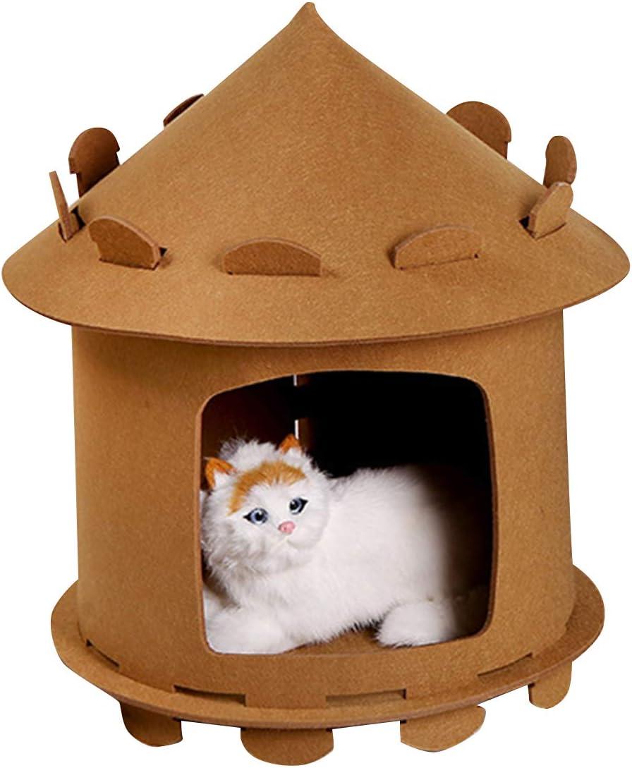 SH-RuiDu Soft Cat House Cozy Felt Surprise price Play Bed Pet Tent Kansas City Mall Cave Kitten