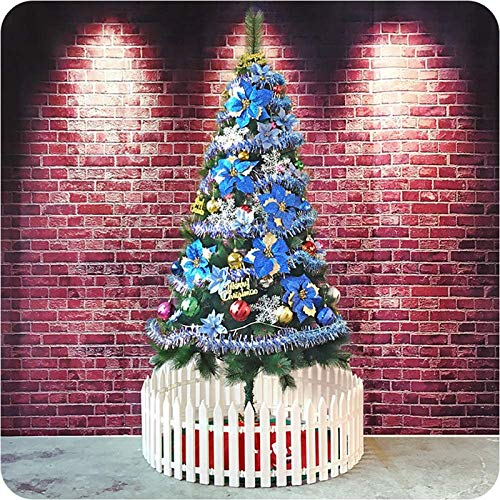 GCE Pre-Lighted Decoration Christmas Pine Tree PVC 5Ft Encryption Branch Tips Artificial Christmas Tree Premium Hinged Indoor Spruce-Blue 150cm (5Ft)