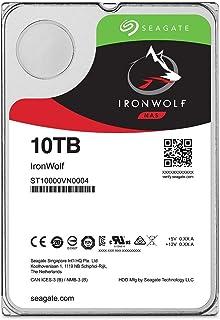 "Seagate IronWolf 3.5"" 10TB 内蔵ハードディスク HDD 3年保証 256MB 7200rpm 24時間稼動 PC NAS 用 RVセンサー ST10000VN0004"
