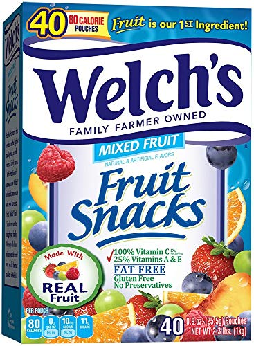 Welch's Fruit Snacks, Mixed Fruit, 40 Count