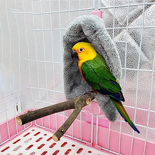 Cozy Corner Fleece Bird Blanket,cuddle Nest Hanging Toy,bird Cozy Corner Assorted Colors, Parrot Cage Snuggle Hut Warm Bird Nest House Bed Hanging Hammock Toy, for Parakeet Cockatiel Lovebirds