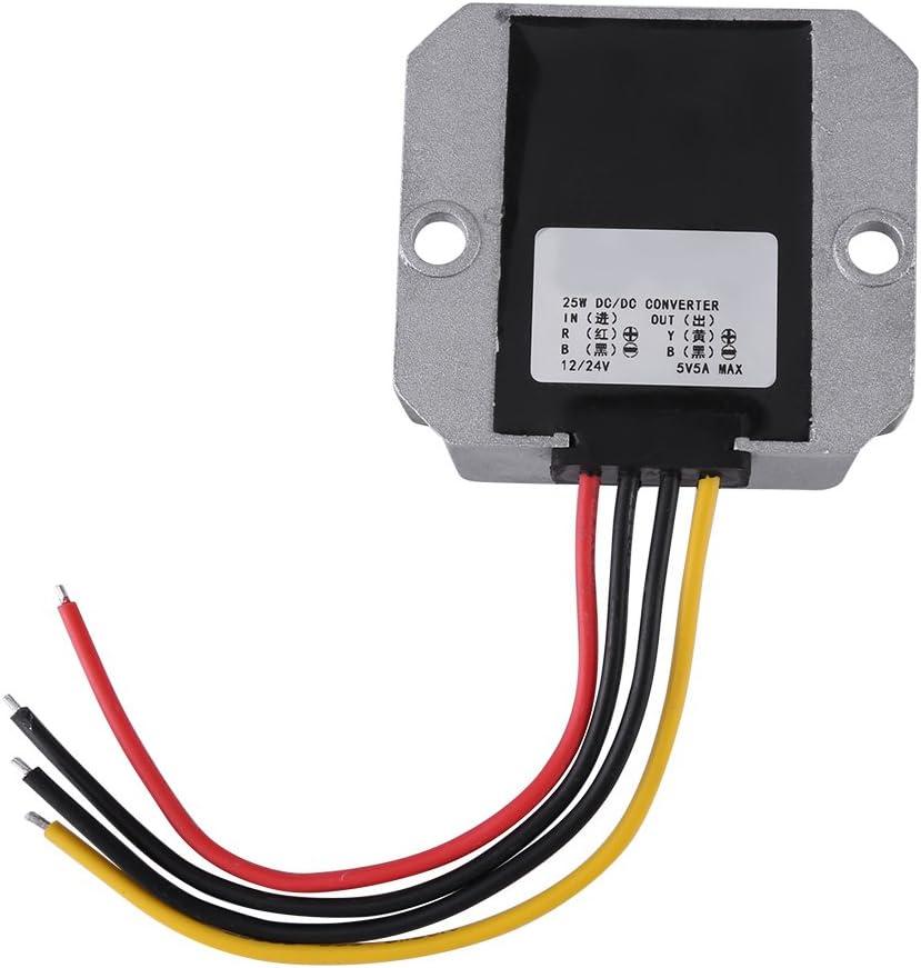 25W 5A DC-DC Buck Power Module Voltage Step Down Converter Input 12V/24V Output 5V for Automobile Vehicle