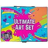 GirlZone Regalos para Niñas -Estuche Colores, Kit Manualidades, 118 Piezas, Pinturas para Niños, Set De Arte Infantil, Art Set, Regalos Originales 3 a 12 años
