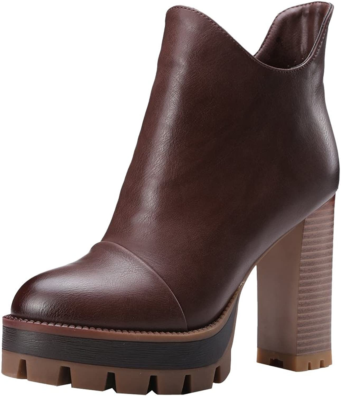 Charm Foot Women's Platform Ankle Boots