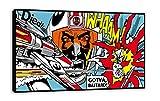 'Whaam. (Set Star Wars Roy Lichtenstein Stil Pop Art Leinwand Art Wand (76,2x 45,7cm)