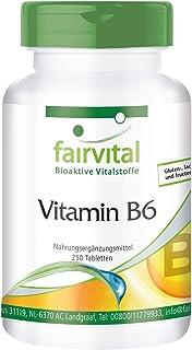 Vitamina B6 Piridoxina 22.5mg - VEGANA - 250 Comprimidos - Calidad Alemana