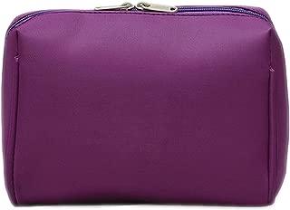 1 Pc Solid Color Cosmetic Bag Women Makeup Bag and Case Professional Travel Makeup Bag Organizer Kits,Purple