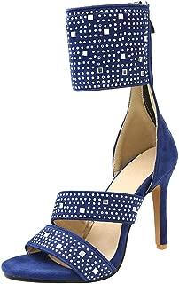 TAOFFEN Women Fashion Stiletto Sandals Zipper