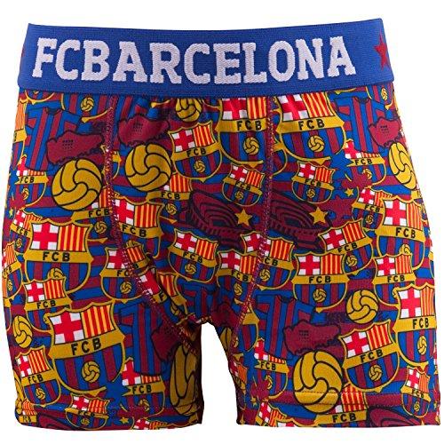 Boxershorts FC Barcelona, offizielle Kollektion von FC Barcelona, Kindergröße, für Jungen 8 Jahre blau