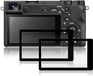 AFUNTA Protectores de Pantalla para Sony A6500 2 Paquetes Películas de Protección de Vidrio Temperado Antirayas para Cámaras Digitales DSLR