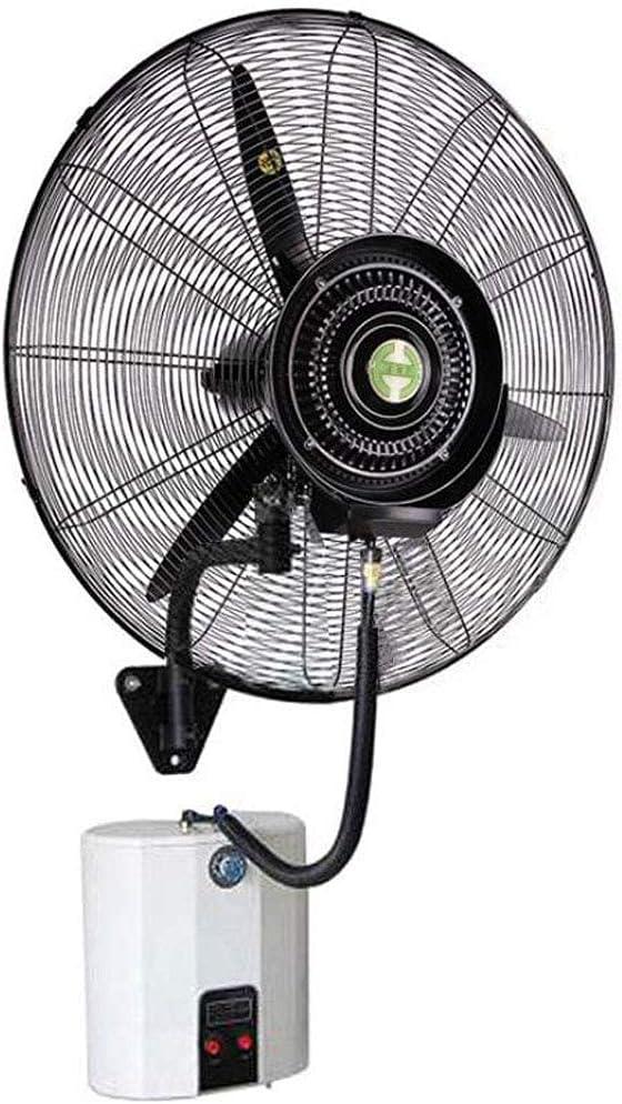 yanzz Ventiladores Ventilador de Servicio Pesado Potente Ventilador de Pared Oscilante Ventilador de bocina de nebulización eléctrica Atomización Enfriamiento Humidificador silencioso con Cabezal