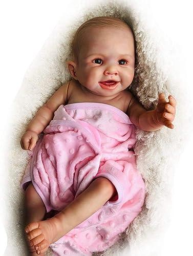Hongge Volle Silikon Vinyl Reborn Baby Doll, Realistische Neugeborenes Baby Puppe Baby Spielzeug FüR Kinder Geschenk 20 Zoll   52 cm